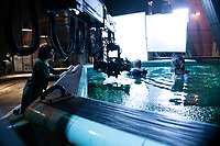 The Shape of Water (2017) <br /> Behind the scenes photo of Doug Jones &amp; Sally Hawkins<br /> *Filmstill - Editorial Use Only*<br /> CAP/MFS<br /> Image supplied by Capital Pictures