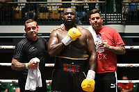 Ishmael Oladipo (black shorts) defeats Phil Williams during a Boxing Show at York Hall on 7th September 2019