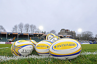 A general view of Aviva Premiership match balls. Aviva Premiership match, between Bath Rugby and Exeter Chiefs on December 31, 2016 at the Recreation Ground in Bath, England. Photo by: Patrick Khachfe / Onside Images