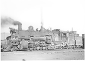 3/4 fireman side view of K-37 #490 at Durango.<br /> D&amp;RGW  Durango, CO  Taken by Payne, Andy M. - 4/10/1959