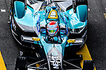 Nelson Piquet Jr of Nextev Nio team during the first stop of the FIA Formula E Championship HKT Hong Kong ePrix at the Central Harbourfront Circuit on 9 October 2016, in Hong Kong, China. Photo by Marcio Rodrigo Machado / Power Sport Images