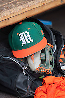 Miami Hurricanes hat on June 20, 2016 at TD Ameritrade Park in Omaha, Nebraska. (Andrew Woolley/Four Seam Images)