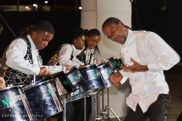 2012, Silver Stars Steel Orchestra perform
