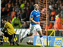 :: RANGERS' STEVEN WHITTAKER CELEBRATES AFTER HE  SCORES THE SECOND FROM THE SPOT :: .19/04/2011   Copyright  Pic : James Stewart.sct_jsp010_dundee_utd_v_rangers .James Stewart Photography 19 Carronlea Drive, Falkirk. FK2 8DN      Vat Reg No. 607 6932 25.Telephone      : +44 (0)1324 570291 .Mobile              : +44 (0)7721 416997.E-mail  :  jim@jspa.co.uk.If you require further information then contact Jim Stewart on any of the numbers above.........