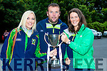 The successful management team of Julie Brosnan, Gerame Shine and Joanne Brosnan of The Kerry team that won the u16 All Ireland final against Dublin at their homecoming in Killorglin on Thursday evening
