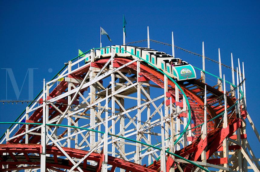 Wooden rollercoaster, Belmont Park, Mission Beach, San Diego, California.