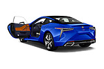 Car images close up view of a 2018 Lexus LC Blue Edition 2 Door Coupe doors