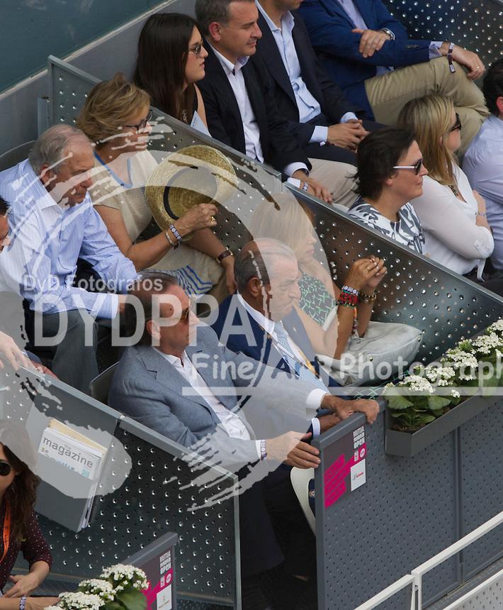 Pedro Trapote; Juan Jose Hidalgo; Begona Garcia Vaquero during the Rafael Nadal vs Grigor Dimitrov tennis match