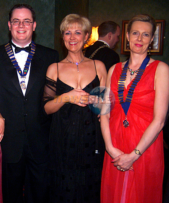 Alan Reynolds,Sam Rioch and Odilla Moynihan at the Round Table Dinner in the Glenside Hotel...Pic Tony Campbell/Newsfile