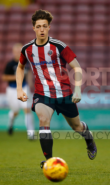 Horatio Hirst of Sheffield Utd during the U18 Professional Development League 2 play off semi final match at  Bramall Lane, Sheffield. Picture date: April 21st 2017. Pic credit should read: Simon Bellis/Sportimage