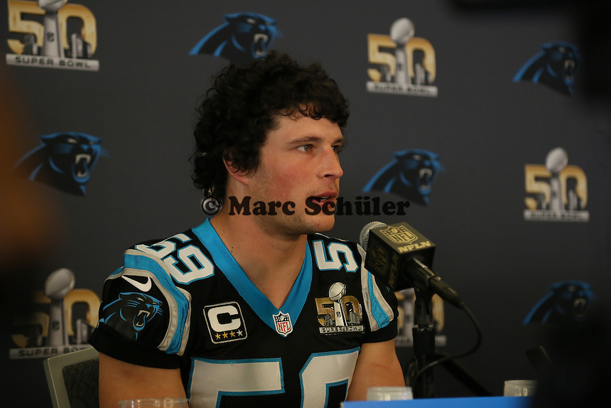 LB Luke Kuechly (Panthers) - Super Bowl 50 Carolina Panthers PK, Convention Center San Jose