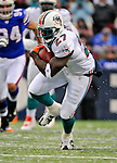 9 December 2007: Miami Dolphins running back Samkon Gado in action against the Buffalo Bills at Ralph Wilson Stadium in Orchard Park, NY. The Bills defeated the Dolphins 38-17. ..Mandatory Photo Credit: Ed Wolfstein Photo