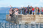 Swimmers protesting at Kells Pier on Sunday in response to the proposed Bye-Law's by Kerry County Council.