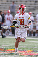 College Park, MD - February 25, 2017: Maryland Terrapins Austin Henningsen (18) in action during game between Yale and Maryland at  Capital One Field at Maryland Stadium in College Park, MD.  (Photo by Elliott Brown/Media Images International)