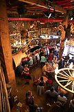 USA, Alaska, Juneau, individuals gather and dine inside of the Red Dog Saloon in downtown Juneau