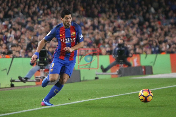 League Santander 2016/2017. Game: 23.<br /> FC Barcelona vs CD Leganes SAD: 2-1.<br /> Luis Suarez.