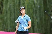Georgia Hall (ENG) tees off the 9th tee during Thursday's Round 1 of The Evian Championship 2018, held at the Evian Resort Golf Club, Evian-les-Bains, France. 13th September 2018.<br /> Picture: Eoin Clarke | Golffile<br /> <br /> <br /> All photos usage must carry mandatory copyright credit (© Golffile | Eoin Clarke)