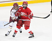 Kaliya Johnson (BC - 6), Jessica Campbell (Cornell - 8) - The Boston College Eagles defeated the visiting Cornell University Big Red 4-3 (OT) on Sunday, January 11, 2012, at Kelley Rink in Conte Forum in Chestnut Hill, Massachusetts.