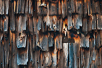Lines, cracks and details in the shingles on the side of a barn create patterns, Door County, Wisconsin