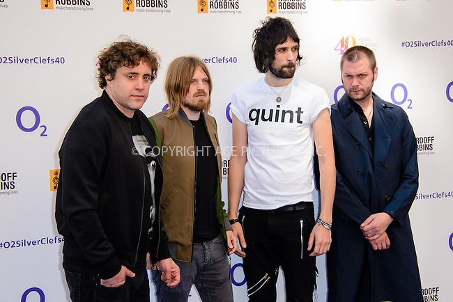 WWW.ACEPIXS.COM<br /> <br /> July 3 2015, London<br /> <br /> Kasabian arriving at the Nordoff Robbins O2 Silver Clef Awards at the Grosvenor House Hotel on July 3 2015 in London. <br /> <br /> By Line: Famous/ACE Pictures<br /> <br /> <br /> ACE Pictures, Inc.<br /> tel: 646 769 0430<br /> Email: info@acepixs.com<br /> www.acepixs.com