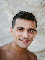 "Igor Kazic, one of the Stari Most diver who usually called ""The Icarus of Mostar"". During the summer he attract tourist by diving from the old bridge to the Neretva River 23 meters below."