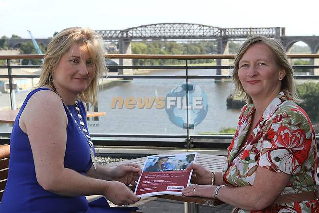 Louisa Maher, President of Network Ireland and Kathleen Dodd from Enterprise Ireland, Dundalk as Network Ireland Announces National Conference and Business Women of the Year Awards at the d Hotel....Photo NEWSFILE/Jenny Matthews.