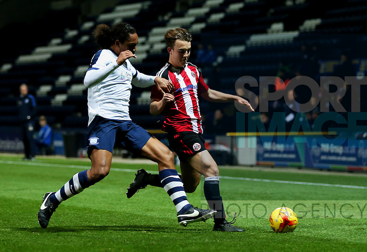 Keegan Burton of Sheffield United under 18's during the FA Youth Cup 3rd Round match at Deepdale Stadium, Preston. Picture date: November 30th, 2016. Pic Matt McNulty/Sportimage