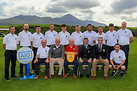 The Roscommon Team, winners of the AIG Jimmy Bruen Shield Connacht Pennant during the AIG Cups & Shields Connacht Finals 2019 in Westport Golf Club, Westport, Co. Mayo on Sunday 11th August 2019.<br /> <br /> Picture:  Thos Caffrey / www.golffile.ie<br /> <br /> All photos usage must carry mandatory copyright credit (© Golffile | Thos Caffrey)