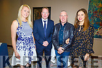 Attending the St Brendans NS Blennerville The Chaser fundraiser in The Rose Hotel on Friday.<br /> L to r: Marissa Grigjane, Bobby O'Connell (Principal), Michael and Galima Cotter.