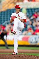 Eric Fornataro (51) of the Springfield Cardinals winds up during a game against the Arkansas Travelers at Hammons Field on May 5, 2012 in Springfield, Missouri. (David Welker/Four Seam Images)