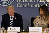U.S. President Donald Trump and First Lady Melania Trump attend the 2018 Hurricane Briefing at the FEMA headquarters on June 6, 2018 in Washington, DC. <br /> Credit: Yuri Gripas / Pool via CNP