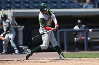 Fort Wayne TinCaps shortstop Fernando Tatis Jr. (23) swings the bat against the West Michigan Michigan Whitecaps during the Midwest League baseball game on April 26, 2017 at Fifth Third Ballpark in Comstock Park, Michigan. West Michigan defeated Fort Wayne 8-2. (Andrew Woolley/Four Seam Images)