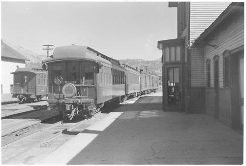 End-side view of San Juan at Durango.<br /> D&amp;RGW  Durango, CO