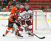 Aaron Ave (Princeton - 28), Colin Blackwell (Harvard - 63) - The Harvard University Crimson defeated the visiting Princeton University Tigers 5-0 on Harvard's senior night on Saturday, February 28, 2015, at Bright-Landry Hockey Center in Boston, Massachusetts.