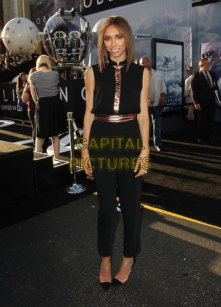 "Giuliana Rancic.""Oblivion"" Los Angeles Premiere held at the Dolby Theatre, Hollywood, California, USA..April 10th, 2013.full length black sleeveless brown bronze belt jumpsuit .CAP/ADM/KB.©Kevan Brooks/AdMedia/Capital Pictures."