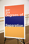 Theatre Poster for the 'Six Degrees Of Separation' Cast Meet & Greet at The New 42nd Street Studios on March 1, 2017 in New York City.