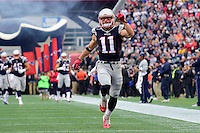 Sunday, October 2, 2016: New England Patriots wide receiver Julian Edelman (11) runs onto the field at the NFL game between the Buffalo Bills and the New England Patriots held at Gillette Stadium in Foxborough Massachusetts. Buffalo defeats New England 16-0. Eric Canha/Cal Sport Media