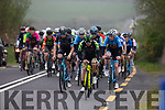 The main Peloton of riders coming up Kenneigh Height just outside Waterville on Sunday's Stage 3 of the Rás Mumhan.