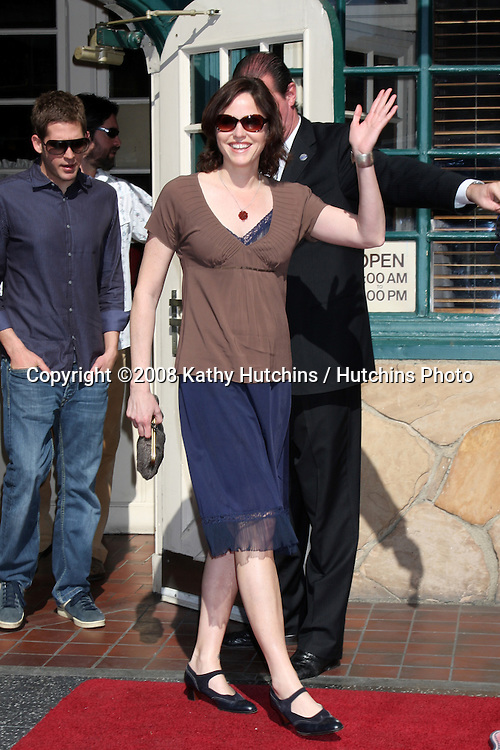 Jorja Fox  at  the Hollywood Walk of Fame Star Ceremony for WIlliam Petersen in front of Musso's & Franks Resturant in Los Angeles, CA on .February 3, 2009.©2008 Kathy Hutchins / Hutchins Photo..