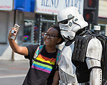 A photograph taken during the Pride Parade in downtown Reno on Saturday, July 28, 2018.