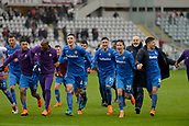 18th March 2018, Stadio Olimpico di Torino, Turin, Italy; Serie A football, Torino versus Fiorentina; Fiorentina players celebrate at the end of the match as they win 1-2