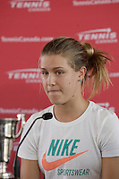 Eugenie Bouchard in 2O12.<br /> <br /> PHOTO : Pierre Roussel