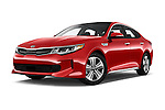 Stock pictures of low aggressive front three quarter view of 2017 KIA Optima EX-Hybrid 4 Door Sedan Low Aggressive