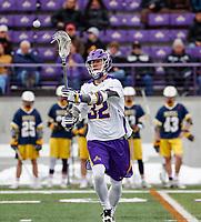 University at Albany Men's Lacrosse defeats Drexel 18-5 on Feb. 24 at Casey Stadium.  Ashton Bradley (#32). (Photo by Bruce Dudek / Cal Sport Media/Eclipse Sportswire)