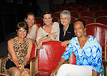 """Friends from Connecticut pose with Colleen Zenk - As The World Turns - stars in Looped - about Tallulah Bankhead - original premiere - at Stageworks/Hudson Theater Outside The Box on July 14, 2013 running until July 28 - also stars Michael Rhodes and Steve Austin Young. """"All he needed was one line . . . All Tallulah needed was eight hours . . .""""  (Photo by Sue Coflin/Max Photos)"""