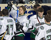 Rylan Kaip, Travis Zajac, Jonathan Toews, Cary Eades, Erik Fabian - The University of Minnesota Golden Gophers defeated the University of North Dakota Fighting Sioux 4-3 on Saturday, December 10, 2005 completing a weekend sweep of the Fighting Sioux at the Ralph Engelstad Arena in Grand Forks, North Dakota.