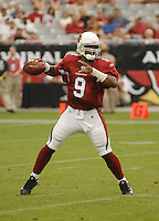 Aug 18, 2007; Glendale, AZ, USA; Arizona Cardinals quarterback Shane Boyd (9) against the Houston Texans at University of Phoenix Stadium. Mandatory Credit: Mark J. Rebilas-US PRESSWIRE Copyright © 2007 Mark J. Rebilas