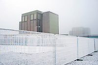 UK. Berkely. 7th December 2010..The reactors at Berkely that will soon be sealed until 2074 as part of the Decommissiong programme..©Andrew Testa/Panos for the Sunday Times Magazine..