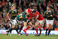 Photo: Richard Lane/Richard Lane Photography..Wales v South Africa. Prince William Cup. 24/11/2007. .Wales' Tom James attacks.