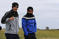 Lee Slattery (ENG) and Nacho Elvira (ESP) on the 16th during round 4 of the Alfred Dunhill Links Championship at Old Course St. Andrew's, Fife, Scotland. 07/10/2018.<br /> Picture Thos Caffrey / Golffile.ie<br /> <br /> All photo usage must carry mandatory copyright credit (&copy; Golffile | Thos Caffrey)